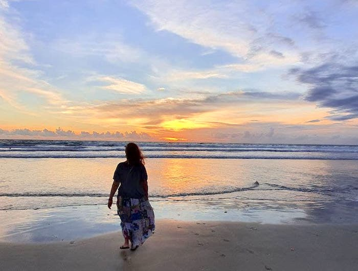 девушка пейзаж море